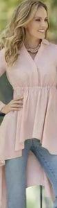 """Monroe & Main"""" Opera Tunic Blouse"""" Sz. 1XL Pink"""
